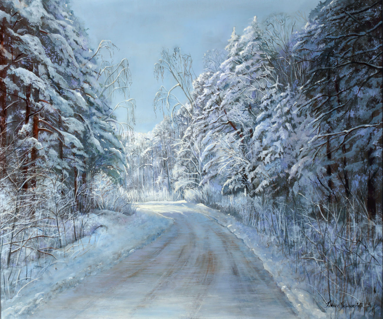 Winter,  55x65 cm, oil on canvas, 2016 (Sold)