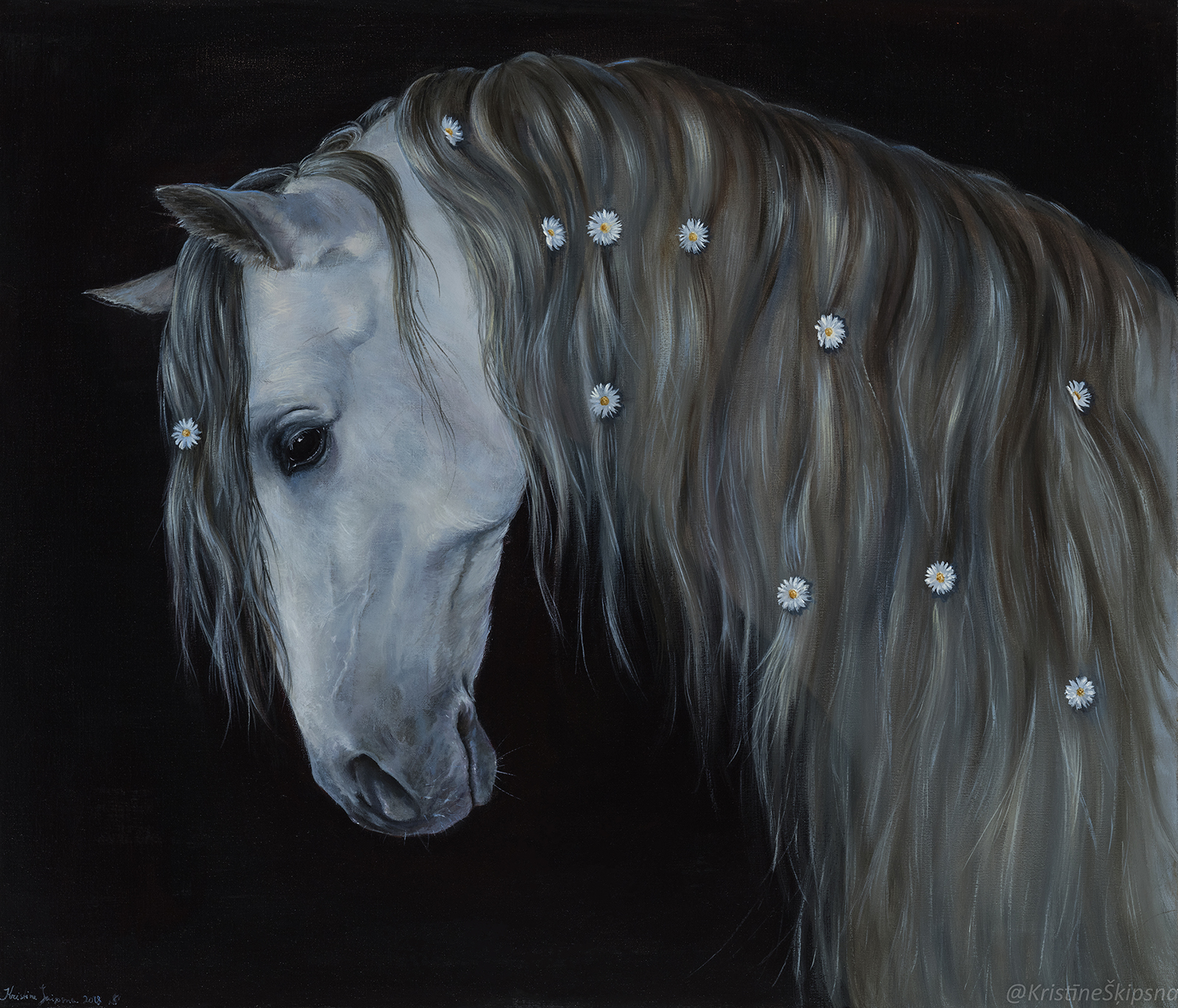 Andalusian princess, 60x70cm, oil on canvas, 2018