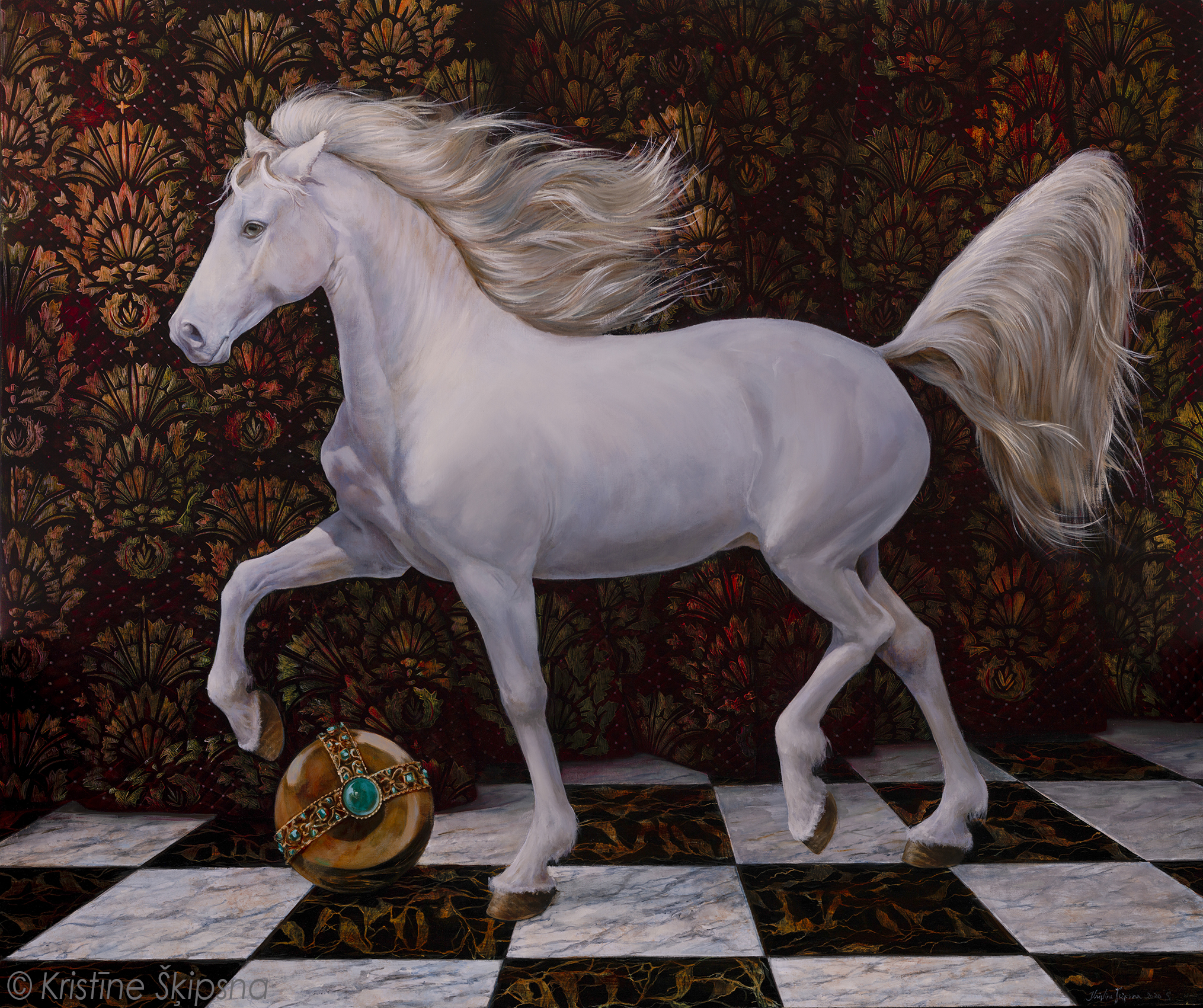 REX EQUUS, 100x120 cm, oil on canvas, 2020