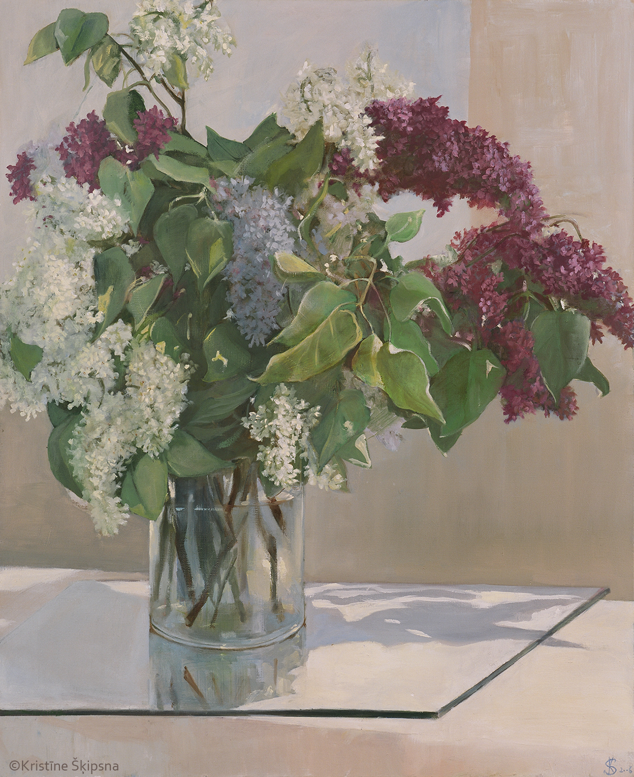 Lilac, 85x70cm,oil on canvas, 2006 (Sold)
